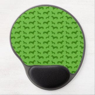 Modelo verde claro lindo del dachshund alfombrilla para ratón de gel