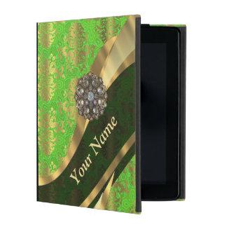 Modelo verde claro personalizado del damasco