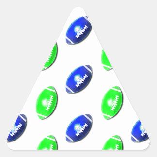 Modelo verde claro y azul del fútbol colcomanias trianguladas personalizadas