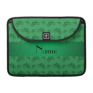 Modelo verde conocido personalizado de la biciclet funda para macbook pro