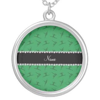 Modelo verde conocido personalizado de la gimnasia joyerias personalizadas