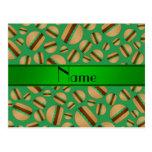 Modelo verde conocido personalizado de la hamburgu tarjetas postales