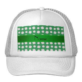 Modelo verde conocido personalizado de los béisbol gorras