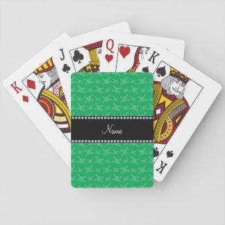 Modelo verde conocido personalizado de los cráneos cartas de póquer