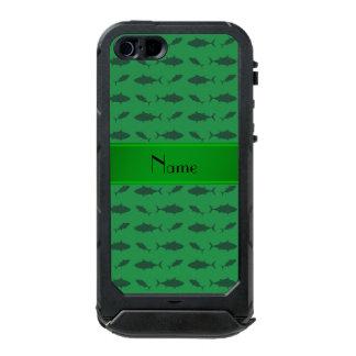 Modelo verde conocido personalizado del atún de funda para iPhone 5 incipio ATLAS ID
