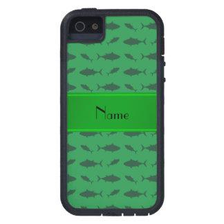 Modelo verde conocido personalizado del atún de funda para iPhone 5 tough xtreme
