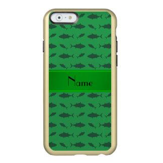 Modelo verde conocido personalizado del atún de funda para iPhone 6 plus incipio feather shine