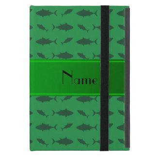 Modelo verde conocido personalizado del atún de iPad mini cárcasa