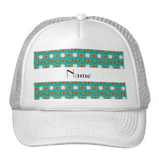 Modelo verde conocido personalizado del béisbol gorras