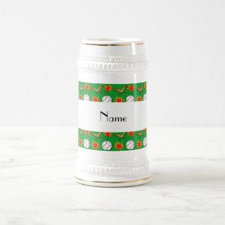 Modelo verde conocido personalizado del béisbol jarra de cerveza