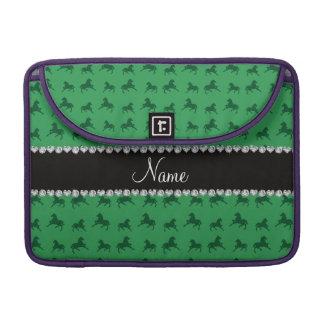 Modelo verde conocido personalizado del caballo fundas macbook pro