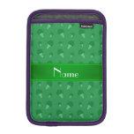 Modelo verde conocido personalizado del helado fundas de iPad mini
