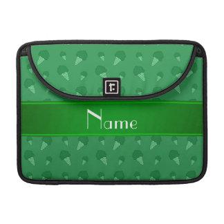 Modelo verde conocido personalizado del helado fundas para macbook pro
