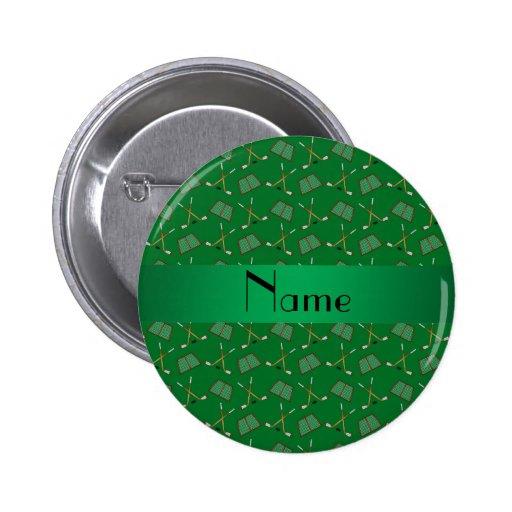 Modelo verde conocido personalizado del hockey pin