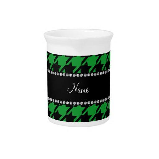 Modelo verde conocido personalizado del houndstoot jarrones