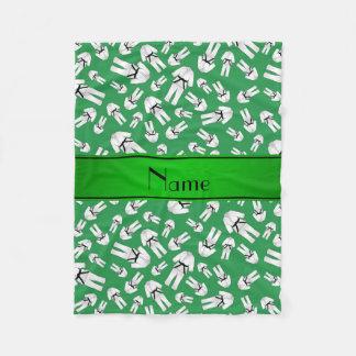 Modelo verde conocido personalizado del karate manta de forro polar