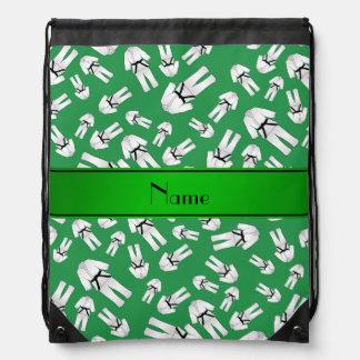 Modelo verde conocido personalizado del karate mochila