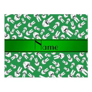 Modelo verde conocido personalizado del karate postal