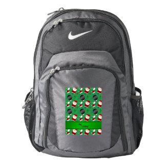 Modelo verde conocido personalizado del navidad de mochila