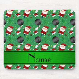 Modelo verde conocido personalizado del navidad de tapete de ratones