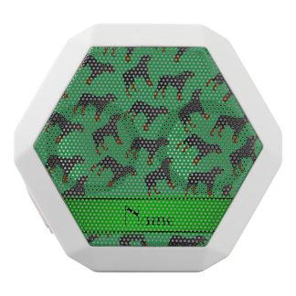 Modelo verde conocido personalizado del perro del altavoces bluetooth blancos boombot REX