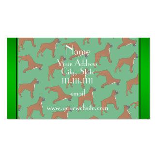 Modelo verde conocido personalizado del perro del tarjetas de visita