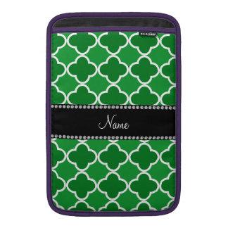 Modelo verde conocido personalizado del quatrefoil fundas para macbook air
