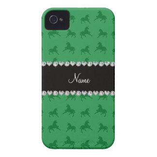 Modelo verde conocido personalizado del unicornio iPhone 4 protector