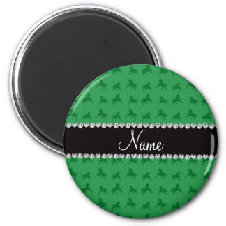 Modelo verde conocido personalizado del unicornio imán de nevera