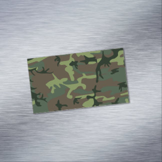 Modelo verde de Camo Brown del camuflaje Tarjetas De Visita Magnéticas (paquete De 25)