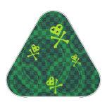 Modelo verde de Emo con los círculos
