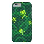 Modelo verde de Emo con los círculos Funda De iPhone 6 Barely There