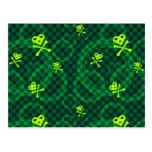 Modelo verde de Emo con los círculos Tarjetas Postales
