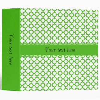 "Modelo verde de Kelly Quatrefoil Carpeta 2"""