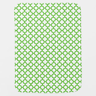 Modelo verde de Kelly Quatrefoil Mantas De Bebé