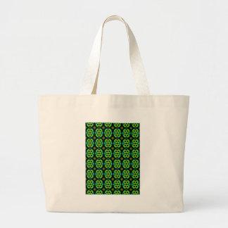 Modelo verde de la diversión bolsa tela grande