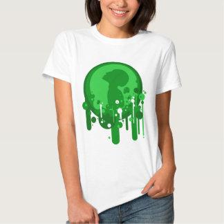 Modelo verde de la esperanza remera