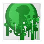 Modelo verde de la esperanza tejas  ceramicas