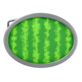 Modelo verde de la fruta del verano de la corteza hebilla de cinturón oval