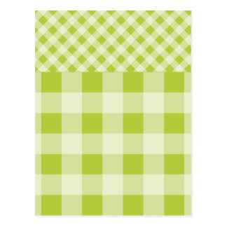 Modelo verde de la guinga de la primavera postales
