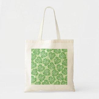 Modelo verde de la hoja bolsas de mano