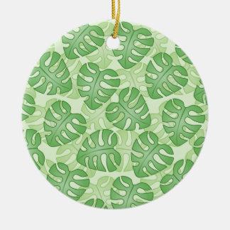 Modelo verde de la hoja ornamento para arbol de navidad
