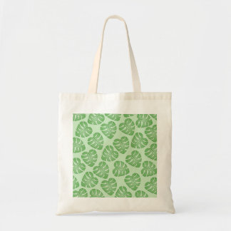 Modelo verde de la hoja, hojas de Monstera Bolsa De Mano