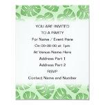 Modelo verde de la hoja, hojas de Monstera Invitación 10,8 X 13,9 Cm