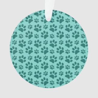 modelo verde de la impresión de la pata del perro