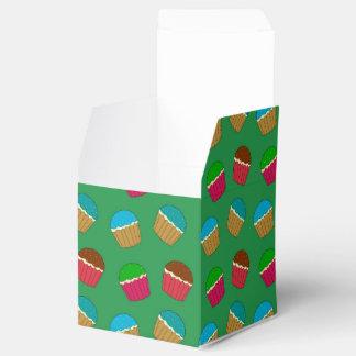 Modelo verde de la magdalena cajas para regalos