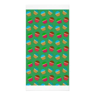 Modelo verde de la magdalena tarjetas fotograficas personalizadas