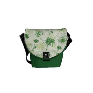 Modelo verde de la palmera bolsas de mensajería