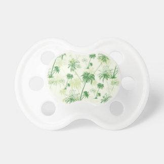 Modelo verde de la palmera chupetes de bebé