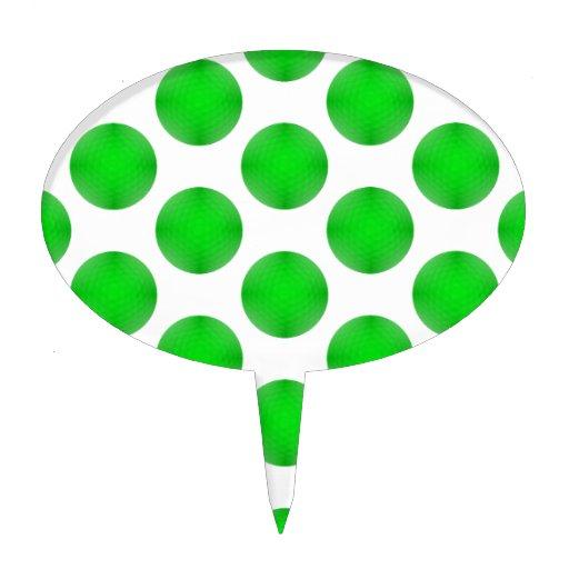 Modelo verde de la pelota de golf decoraciones para tartas